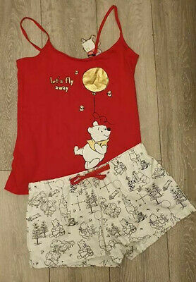 PRIMARK Ladies Girls Pyjamas Pjs Cami Vest Top Shorts Pajamas Pyjama Set DISNEY