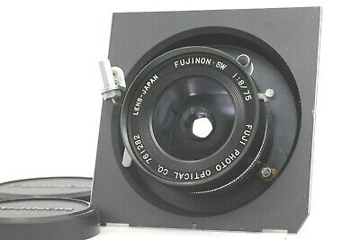 【N.MINT】 Fuji Fujinon SW 75mm f8 Large Format Wide Lens Seiko Shutter From JAPAN
