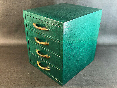 deco vintage 4 drawer chest Industrial Machinist Tool Art Supply Jewelry Sewing