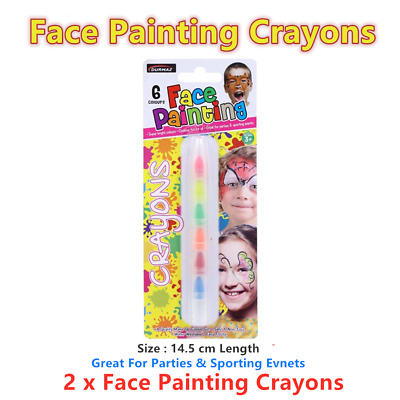 2 x Face Painting Crayon Make Up Body Kid Children Party Halloween Pen Non Toxic