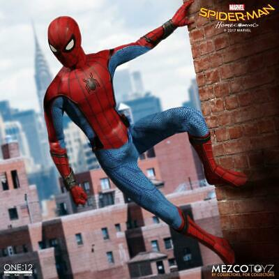 """SPIDER-MAN HOMECOMING Mezco Toys One:12 Collective 6"""" Action Figure Marvel MCU"""