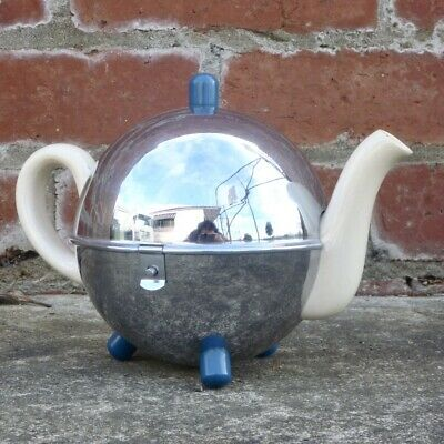 Vintage Heatmaster Chrome Globe Teapot Cover Tea Cosy Art Deco 1930s Antique Old