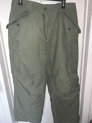 Us Military Trousers Cold Weather PantsW/liner Med-short Pants 1978 Liner 1972