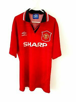 Manchester United Home Shirt 1994. Medium. Umbro Red Adults Man Utd Football Top