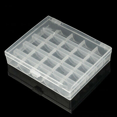 25 Grids Clear Sewing Bobbin Box Case Spool Sewing Tool Storage Organizer Newly