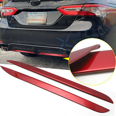 Sport Red Rear Bumper Plate Decorator Pad Cover Trim For Toyota Camry 2018-2020