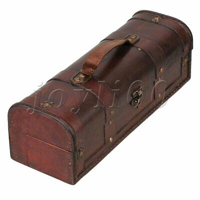 Vintage Wooden Wine    Chest Storage Box Single Bottle Wedding Groomsman Gift