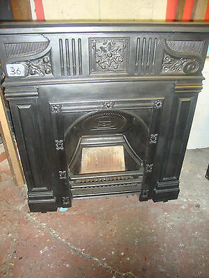 Superb antique large fully restored cast iron fireplace