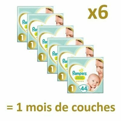 Pampers - Protection New baby - Taille 1 - 2 à 5 kg - 264 couches - 1 mois