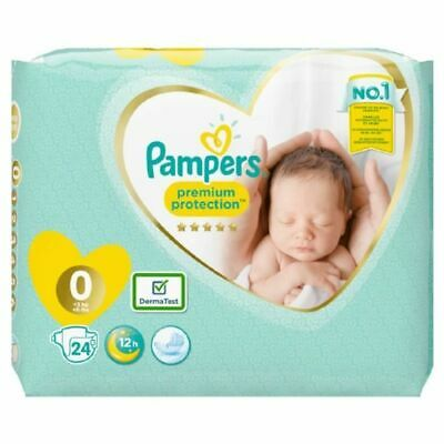 Pampers Premium - Protection New baby - Taille 0 - 24 couches