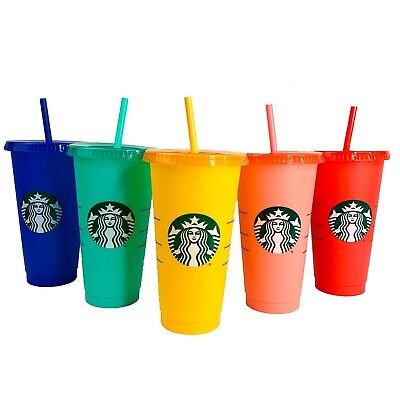 2020 Starbucks COLOR CHANGING Venti COLD CUPS 24oz New YOU CHOOSE COLOR! Rainbow
