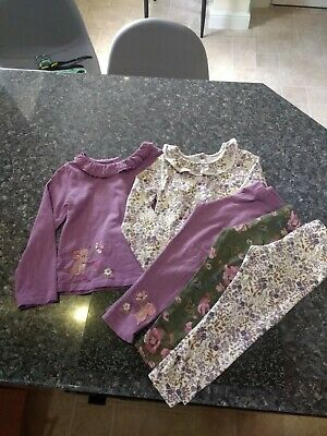 next pretty embroidered leggings and top sets age 3 to 4 years