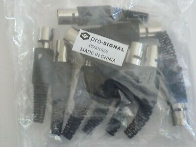 Job Lot Of 10 In A Pack ---    Pro Signal - Psg01552 - In-Line Din Plugs, 3P .--