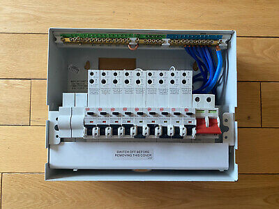 Wylex 11 way consumer unit + 100A Main Switch + 9RCBO