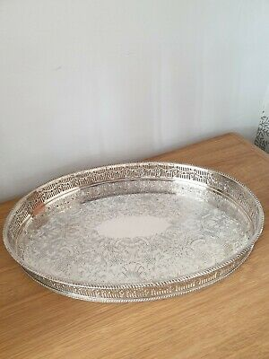 Silver Plated Gallery Tray