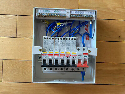 Contactum Defender 6 way consumer unit +100A Main Switch + 6 RCBO