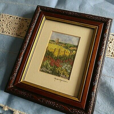 Vintage Hand Embroidered Picture Framed  - Beautiful Intricate Embroidery