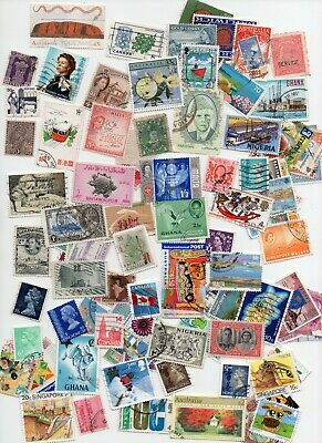 BRITISH COMMONWEALTH STAMPS  -500 All Different - Off Paper