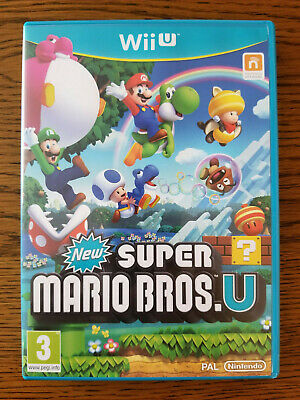 New Super Mario Bros U (Nintendo Wii U, 2012) in original case with manual - PAL