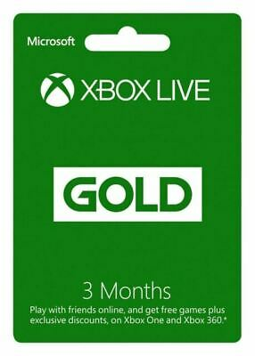 Microsoft Xbox Live Gold Subscription - 3 Months