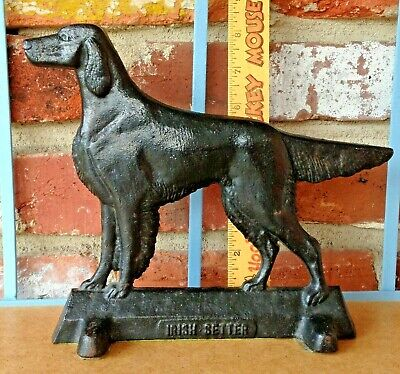 Vintage Elusive Irish Setter Dog - Heavy Virginia Metal Crafters Door Stop!