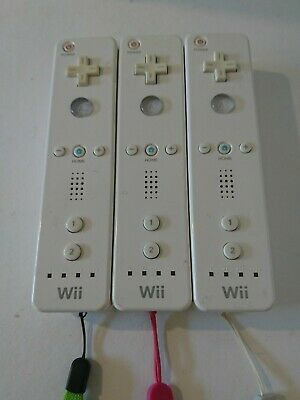 3x Official Nintendo Wii Remote Controllers Wiimote Tested Working
