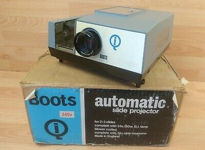 Boots QI Magazine Model 775 Automatic Vintage Projector  Boxed Retro