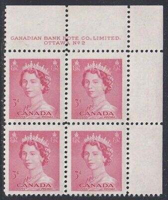 Canada Scott 327 UR Pl #2 MNH - 1953 Karsh Issue