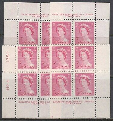 Canada Scott 327 MS Pl #4 MNH - 1953 Karsh Issue