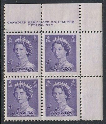 Canada Scott 328 UR Pl #3 MNH - 1953 Karsh Issue
