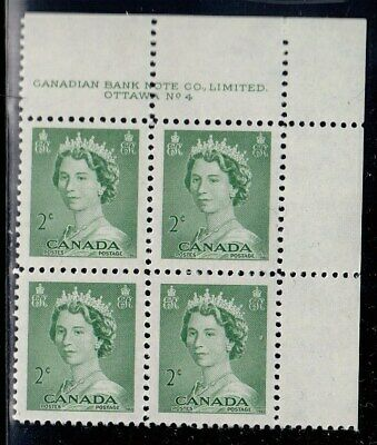 Canada Scott 326 UR Pl #4 MNH - 1953 Karsh Issue