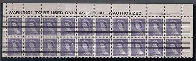 Canada Scott 328xx Warning Strip Pl #5 MNH - 1953 Karsh Issue
