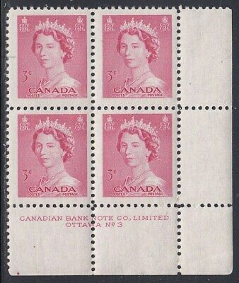 Canada Scott 327 LR Pl #3 #2 MNH - 1953 Karsh Issue
