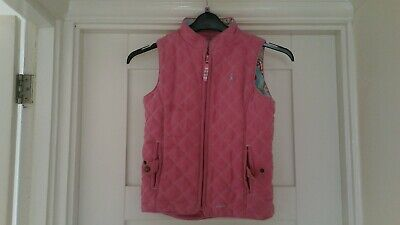 Joules girls pink gilet, age 8 years
