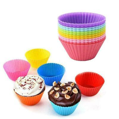 12pcs Silicone Square Cup Cake Muffin Cupcake Cases Baking Cup Baking Moulds jc