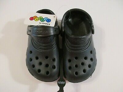NWT Boys Jibbitz by Crocs Sandals Shoes~Black~Size S 8-9
