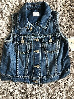 Gap Denim Gilet Age 4 Bnwt