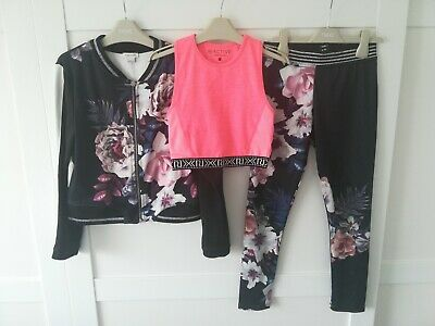 Girls River Island Set Leggings And Top Age 9-10 Years