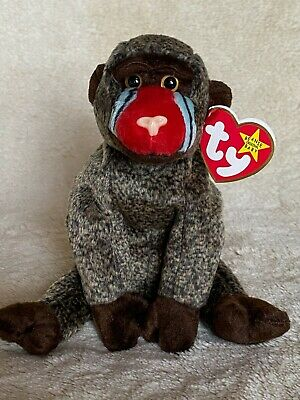 Cheeks The Baboon - Ty Beanie Babies (introduced in 1999)