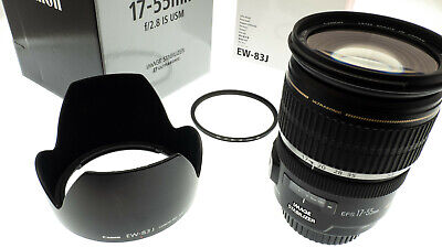 Canon EF-S 17-55mm F/2.8 IS USM Lens  + Canon EW-83J Hood - All Boxed