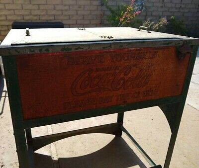 Old Original Glasscock Coca-cola Cooler