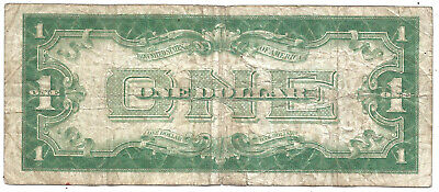 1928A $1 Silver Certificate! ~EXPERIMENTAL X-B~ *FUNNY BACK* Old US Paper Money!
