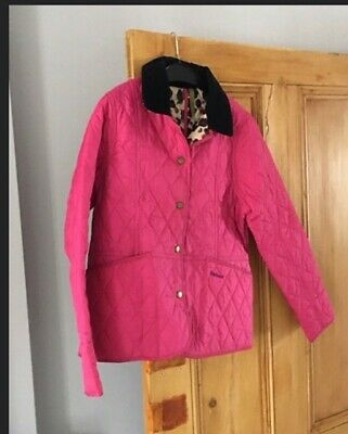 Barbour Girls Age 12-13 Years Pink Jacket with country cottage prints lining