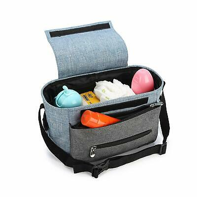 Stroller Organizer Bag - Wirezoll with High-Capacity & Adjustable Straps (Blue)