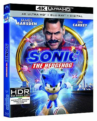 SONIC THE HEDGEHOG 4K + Blu-ray (No Digital) With Slip Cover Brand New Untouched