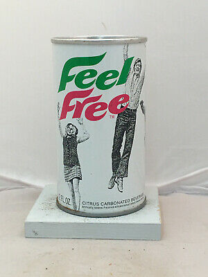 Tough Feel Free Soda Can - early 70's brand from General Mills