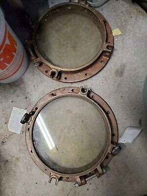 1 brass ship port hole window 16 inches