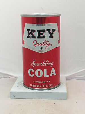 Key Cola Soda Can - super clean & bottom opened!