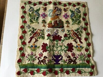 Fine English Antique Colourful Wool Sampler.