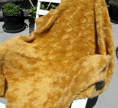 Teddy Bear Making MOHAIR Fabric Golden curly large piece